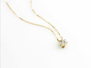 00acae3898be Colgante oro 18 Ktes con diamante 6 garras